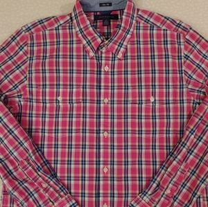 Tommy Hilfiger Slim Fit Plaid Button Shirt